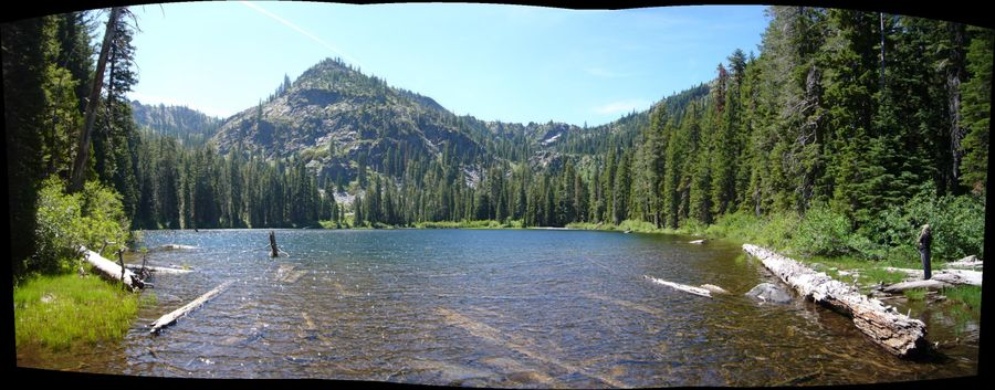 Blue granite lake